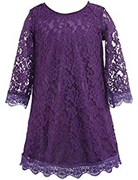 Short Lace Flower Girl Dress with Illusion Sleeves