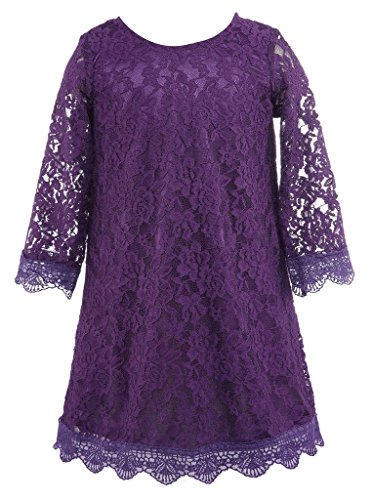 Bow Dream Flower Girl's Dress Purple 8 by Bow Dream