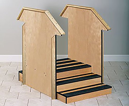 Clinton Value Series Small Straight Therapy Stairs with Full Sides