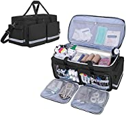 Trunab Emergency Medical Duffle Bag Empty with Compartment for Oxygen Tank(M2-M22), First Responder Trauma Bag