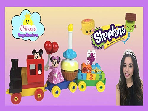 Clip: Disney Mickey Mouse Clubhouse Birthday Parade Train Unboxing with Princess ToysReview