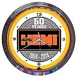 Neonetics Hemi 50th Anniversary Neon Wall Clock, 15-Inch For Sale