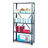 Safco Products 6266 Commercial Shelf Kit 36''W x 18''D x 72''H with 5 Shelves, Gray