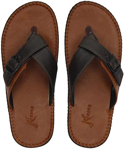 4c4a54a6654a Kraasa Men S Brown Synthetic Thong Sandals(10)  Buy Online at Low ...
