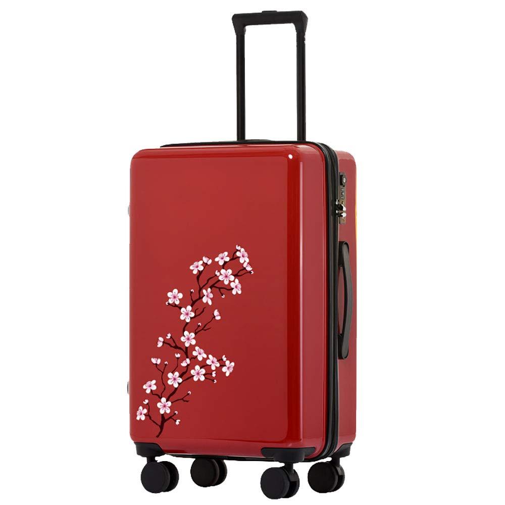 トロリーボックスPc大容量ポータブル出張ミュートキャスタースーツケース(赤)   B07MMYP2H6