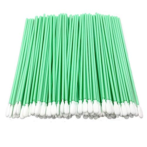 "100pcs 6.45"" Cleanroom Polyester Swab with Flexible Head Knitted Polyester Cleaning for Gun Optical Lens/PCB/BGA/Electronics/Semiconductor Instrument and Medical Industry CK-PS761 (100)"