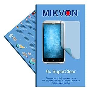 6x Mikvon SuperClear Película de protección de pantalla para HTC Edge - transparente - Protectores de pantalla fabricado en Alemania (Intencionadamente es más pequeña que la pantalla ya que esta es cu