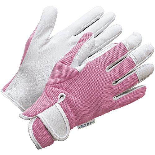 Lederne Gartenhandschuhe für Damen (mittelgroß) - von Viridescent. Frauen lieben diese rosa, femininen, eng anliegenden Handschuhe. Schützend, bequem und langlebig (sogar sicher für das Zurückschneiden von Rosen). Die beste Geschenkidee für jede Gärtnerin. Kaufen sie es heute im Schlussverkauf!