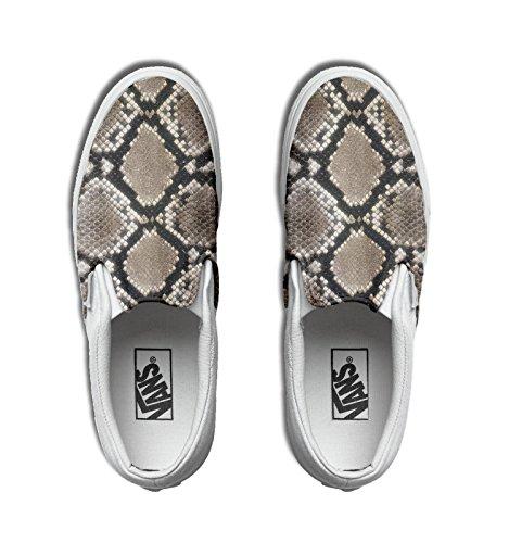 Vans personalizzate U CLASSIC SLIP-ON, Sneaker Unisex Adulto(Prodotto Artigianale) Pitonate