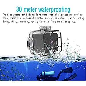 YOUYOUTE SQ12 Spy Mini Camera HD 1080P Waterproof IR Night Vision 155°wide Angle Sport Camcorder Motion Detectiom Video Recorder Hidden DVR Nanny Cam