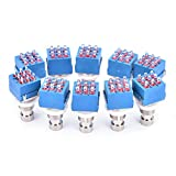 Buytra 10 Pack 9 Pins 3PDT Stomp Box Switch Guitar Effect Pedal True Bypass Foot Switch Metal
