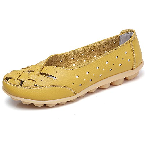 Women Shoes, Soft Lady Flats Sandal ✦◆HebeTop✦◆ Leather Ankle Casual Slipper Single Shoes Yellow
