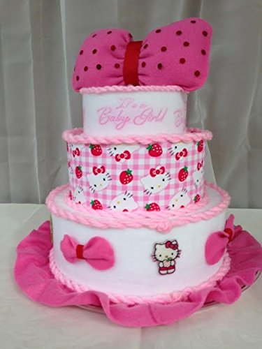 Amazon Com Hello Kitty Kitty Cake For Baby Shower Baptism