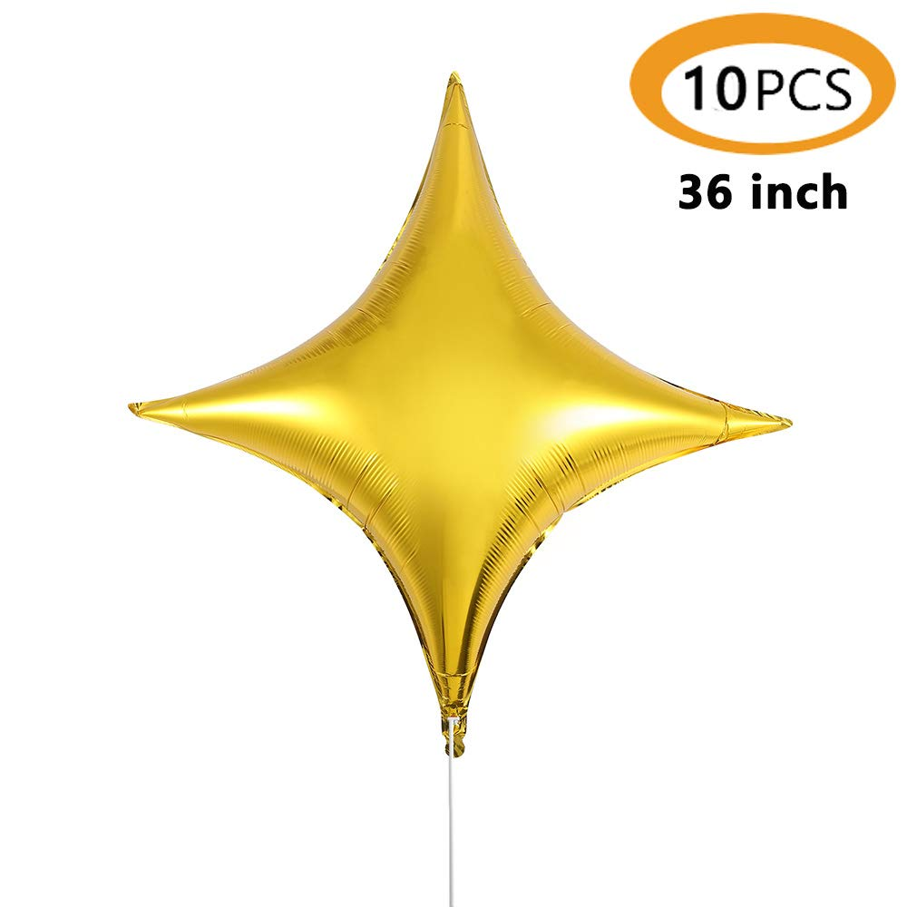 "Rose Gold 9/"" Qualatex Foil Star Shaped Balloons x 2"
