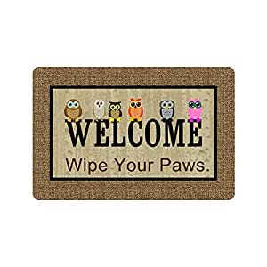 Amazon Com Personalized Wipe Your Paws Welcome Door Mat