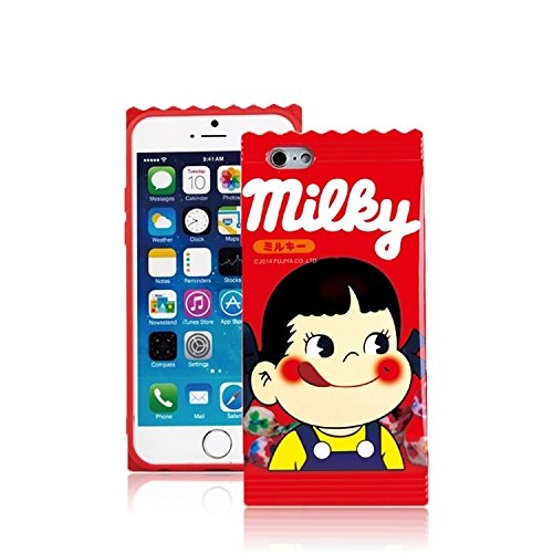 ChillNChic Milky Candy Wrapper Design Soft TPU Cases Covers for Apple iPhone 6 / 6s 4.7 Inches Red Girls Boy Kids Gift Fun Creative Cute Lovely Unique Novelty Japanese Cartoon Animation