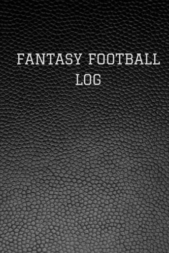 Fantasy Football Log: Classic Black Faux Leather Logbook Journal Professional Diary   Daily Record Log Book