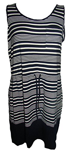 Olive & Oak Drawstring Jersey Dress, Navy/White, (Drawstring Dress)