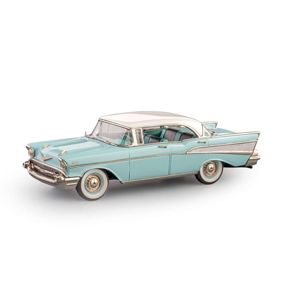 Brooklin Models - 1957 Chevrolet Bel-Air 4 Door Hardtop - BRK221 - Larkspur Blue/Indian Ivory