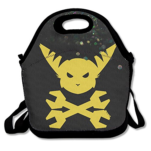 Bekey Ratchet & Clank Head Lunch Tote Bag Lunch Box For Women Adults Kids Girls For Travel School Picnic Grocery Bags
