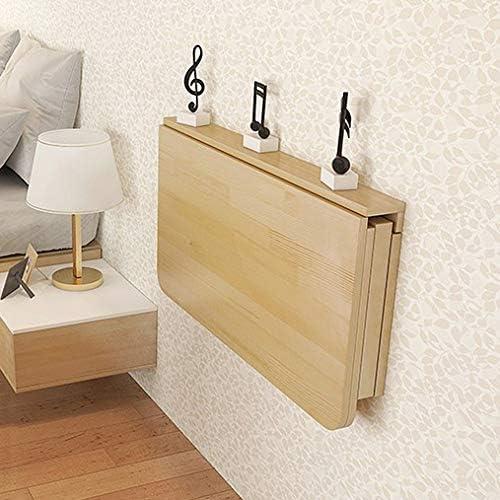 ADASP Schwimmender Laptop-Schreibtisch, klappbarer Computertisch an welcher Wand, Massivholz-Klapptisch, platzsparendes hängendes Ablagefach z. Hd. Schlafzimmer, Büro, Büro oder Galerie