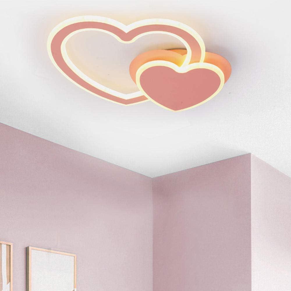 Lampada da soffitto a led dimmerabile senza fine moderna 58W Led rosa amore macarons camera da letto//sala da pranzo lampada ragazzo ragazza /Ø 48 8 cm lampade di personalit/à