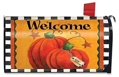 (Briarwood Lane Pumpkin Autumn Welcome Large Mailbox Cover Primitive Oversized)