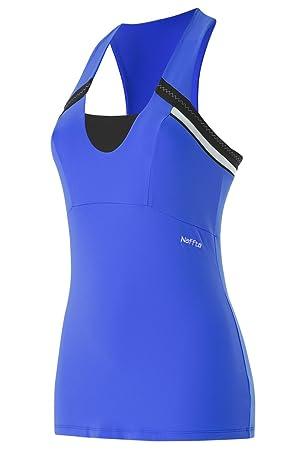 Naffta Tenis Padel - Camiseta de Asas para Mujer, Color Azul Francia/Negro, Talla L: Amazon.es: Zapatos y complementos