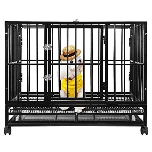 "BestPet 48"" Heavy Duty Dog Pet Cat Bird Crate Cage Kennel HB"