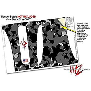 WraptorCamo Old School Camouflage Camo Black - Decal Style Skin Wrap fits Blender Bottle 28oz (BOTTLE NOT INCLUDED)