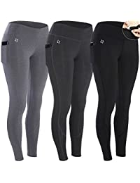 Womens Workout Leggings Capris with Pocket - Yoga Pants for Running Sports Fitness Gym