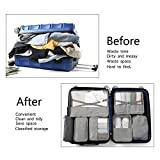 BIMNOOT Packing Cubes 7-Pcs Travel Luggage Packing