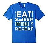 Eat Sleep Football Repeat T-Shirt | American Football Shirt
