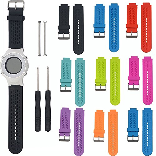 SCASTOE Sports Fitness Silicone Watch Band Strap for Garmin Vivoactive / Approach S2 S4 Orange