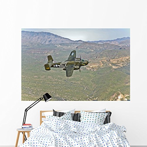 North American B-25g Mitchell Wall Mural by Wallmonkeys Peel and Stick Graphic (72 in W x 48 in H) WM233220