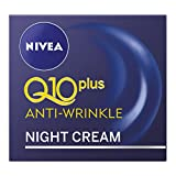 Nivea Q10 Plus Anti-Wrinkle Face Night Cream, 50 ml, Pack of 3