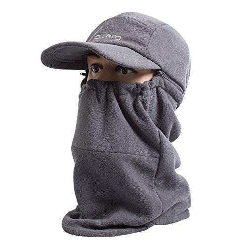 Ubestyle Unisex Balaclava Windproof Hat Ski Face Mask Fleece Hood Sports Mask Cap (Gray)