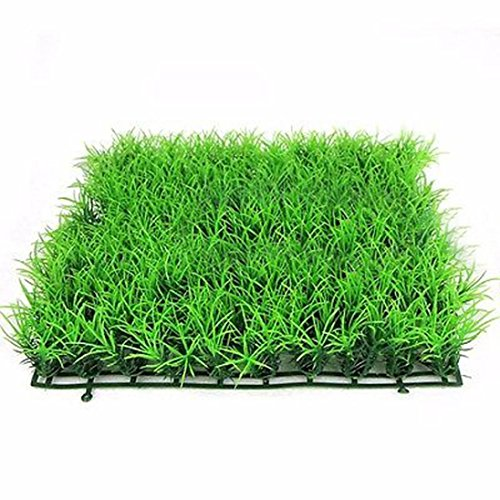 Anshinto Artificial Water Aquatic Green Grass Plant Lawn Aquarium Fish Tank Landscape Seaweeds - Fish Breeding Supplies