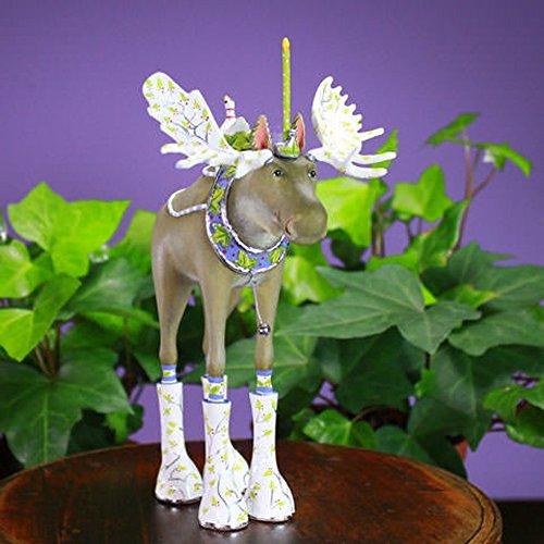 Patience Brewster Christmas Home Decor Mini Milton Moose Ornament - Krinkles Christmas Reindeer