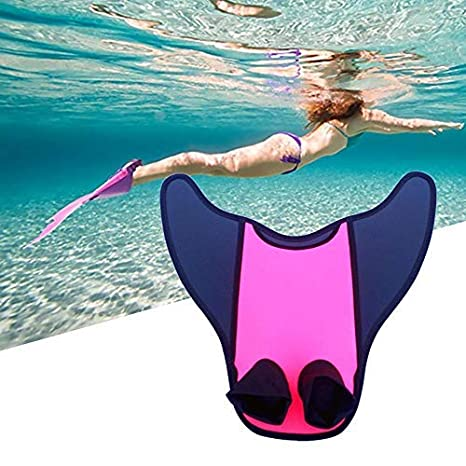 Adult Kids Mermaid Swimming Dive Monofin Swimmable Tails Fin Training Flipper UK