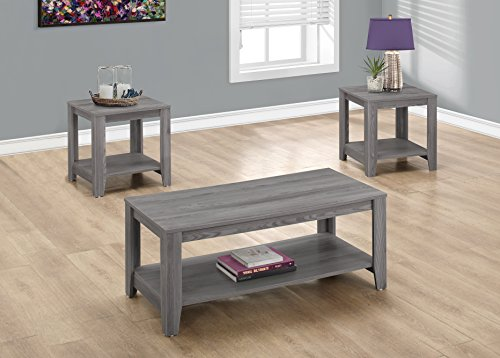 MONARCH TABLE SET - 3PCS SET / GREY / I 7991P /