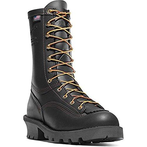 Danner Women's Flashpoint II 10'' All Leather Black Vibram Sole Oil & Slip Resistant   Made In USA Waterproof   Modern Battlefield Combat Boot   Electrical Hazard Boot Leather (9.5 W)