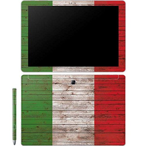 Skinit Italian Flag Dark Wood Galaxy Book 12in Skin - Officially Licensed Originally Designed Laptop Decal - Ultra Thin, Lightweight Vinyl Decal Protection