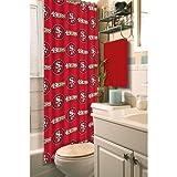 Northwest 1NFL903000013RET Nor-1NFL903000013RET San Francisco 49ers NFL Shower Curtain NFL 903 49ers Shower Curtain