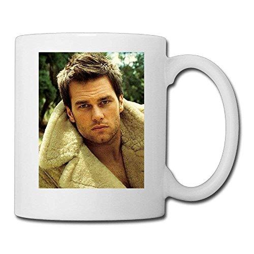(raikay White Tom Brady Ceramic Mug 11oz Unisex Printed On Both Sides)