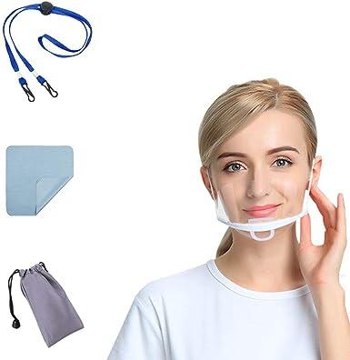 Lot de 10 visi/ères de protection en plastique transparent anti-bu/ée Splash