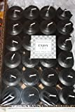 Enlightened Ambience SEXY, PATCHOULI SCENTED, VOTIVE CANDLES, BLACK, BULK SET OF 24