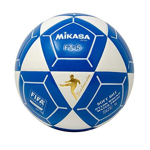 (Mikasa FT5 Goal Master Soccer Ball, White/Blue, Size 5)