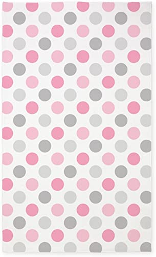CafePress Pink Gray Polka Dots Decorative Area Rug