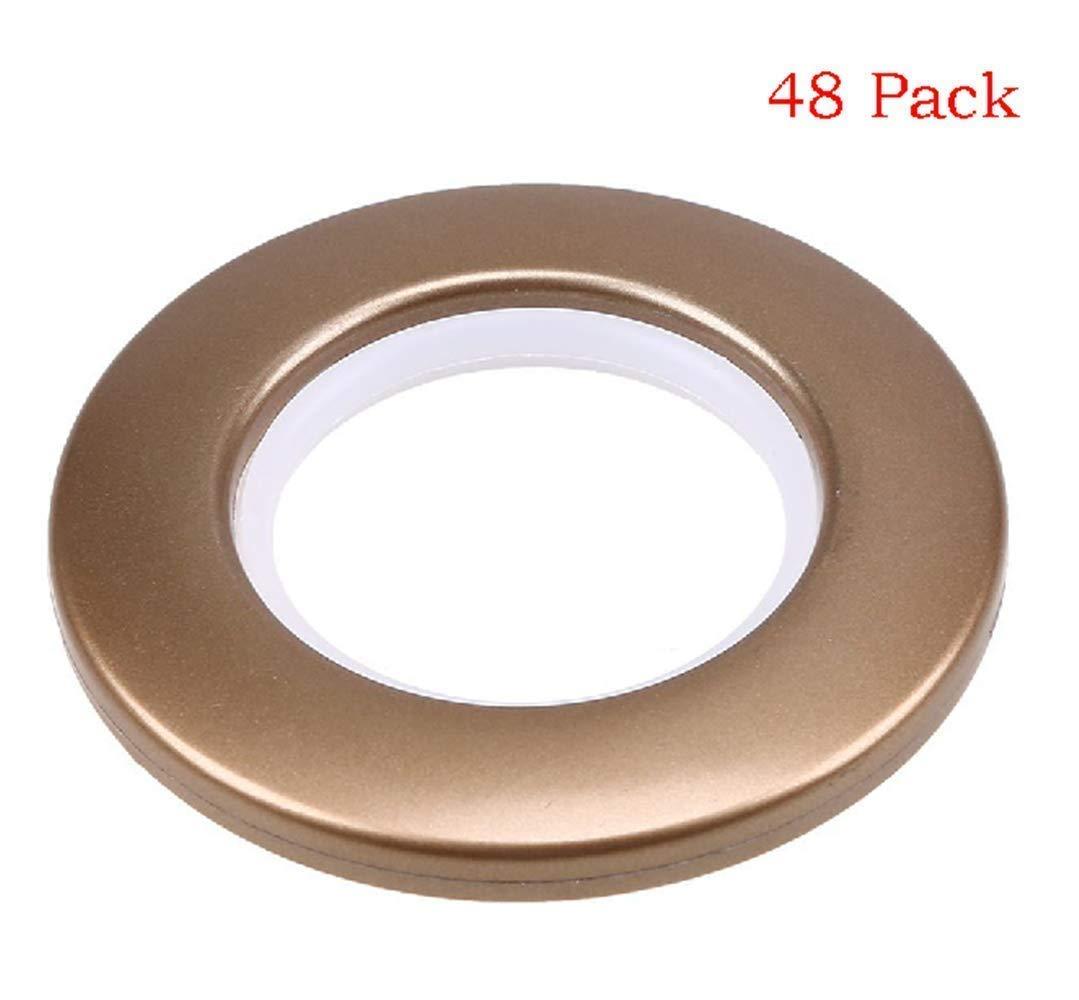 Curtain Grommets 1-9/16 Inch Inner Diameter Curtain Eyelet Ring Brown 48 Pairs